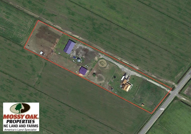 SOLD!  3.8 Acres of Land with House and Horse Barn For Sale in Pasquotank County NC!
