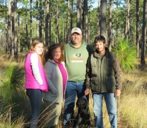 Marty Lanier with, from left, his daughter Amanda, wife Cyndi, son Jonathan and their dog, Morgan.