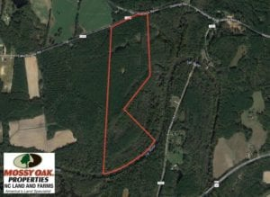 SOLD!  77 Acres of Riverfront Hunting Land For Sale in Nash County NC!