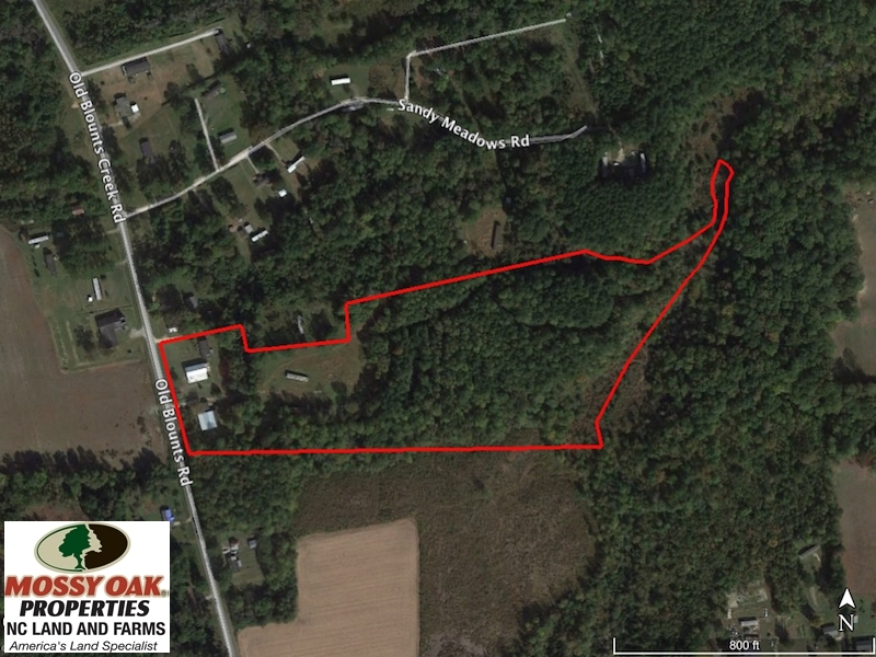 SOLD!  16 Acres of Land with Home For Sale in Beaufort County NC!