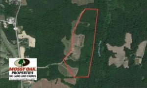 SOLD!  47.06 Acres of Hunting Land For Sale in Vance County NC!