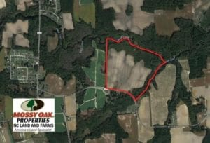 SOLD!  65.57 Acres of Farm and Timber Land For Sale in Wilson County NC!