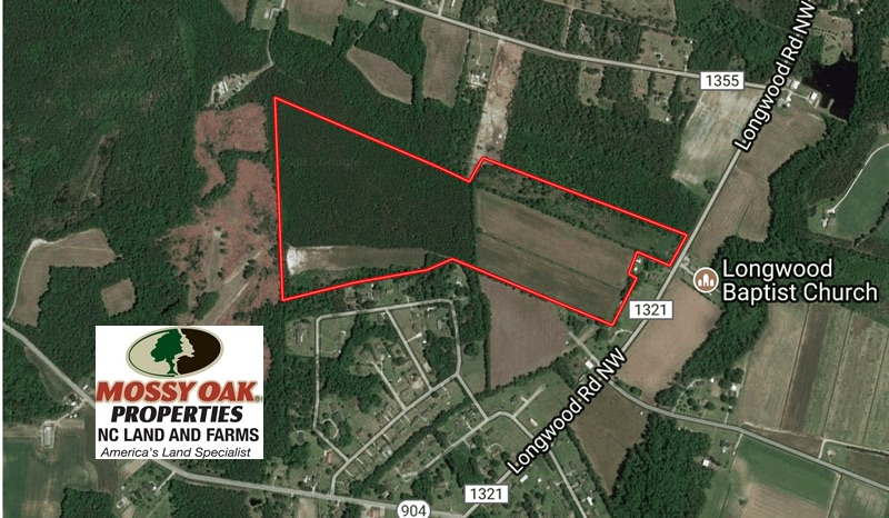 SOLD!  64.37 Acres of Farm and Hunting Land For Sale in Brunswick County NC!