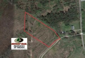 UNDER CONTRACT!  3.72 Acres of Rural Residential or Recreational Land For Sale in Dinwiddie County VA!