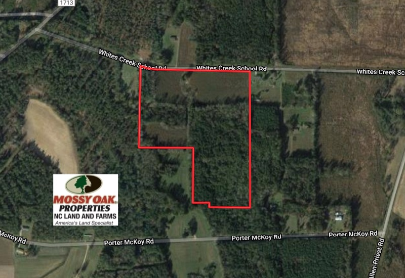 SOLD!  26 Acres of Farm and Timber Land with Home Site For Sale in Bladen County NC!