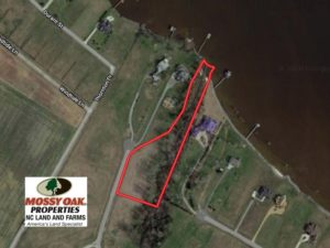SOLD!  3 Acre Waterfront Building Lot For Sale in Perquimans County NC!