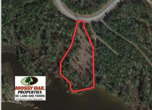 SOLD!  1.24 Acre Waterfront Lot For Sale on the Bay River in Pamlico County NC!