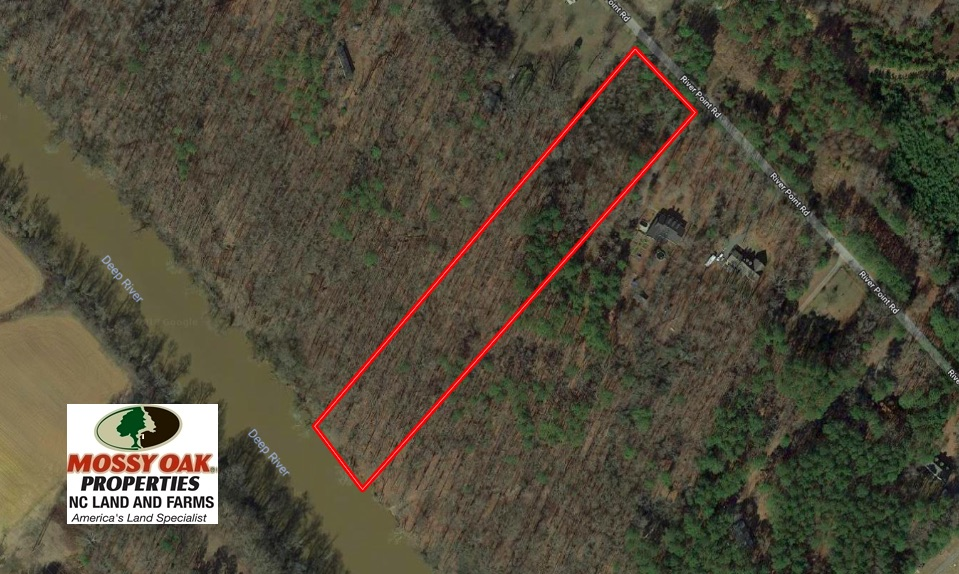 SOLD!  5.13 Acres of River Front Timber Land For Sale in Chatham County NC!