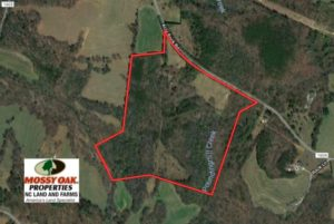UNDER CONTRACT!  50.8 Acres of Timber and Pasture Land For Sale in Cleveland County NC!