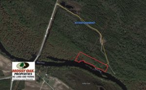 UNDER CONTRACT!  7 Acres of Riverfront Timber and Hunting Land For Sale in Pender County NC!