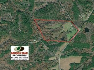 43 Acre Farm with Home and Fields and a Pond For Sale in Caswell County NC!