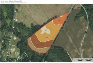 24.06 acres of Farm and Hunting Land for Sale in Robeson County NC!